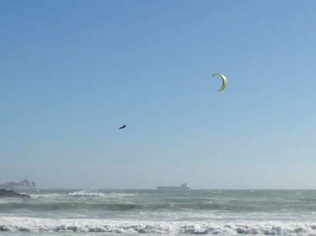 Champion kite-surfer recovered from coma to win a competition