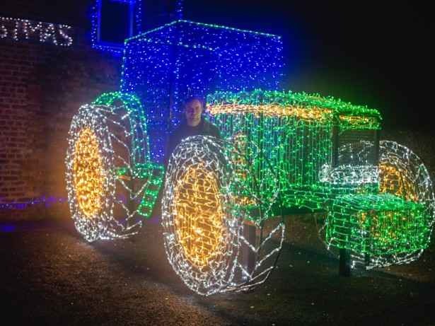 Farmer Pimps His Ride For Christmas