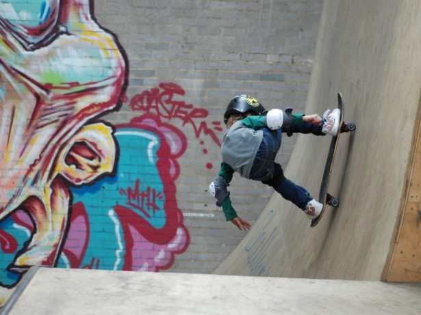 Eight-year-old skateboarding prodigy tipped for future Olymip success