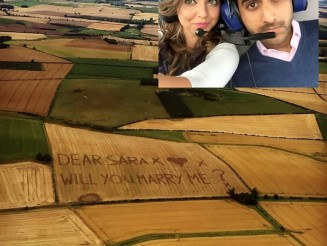 Farmer mows proposal into field to help shy man get married