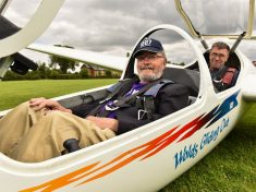 OAP And Away! : 90-Year-Old Great-Grandad Soars In Glider To Raise Money For Daughter's Rare Condition