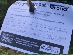 """Police Left """"Sorry We Missed You"""" Note After Discovering Cannabis Plantation"""