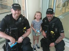Little Girl Gives Sweets To Armed Police To Say Thanks For Protecting Her