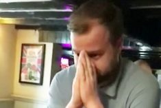 WATCH – Gutted Salesman Duped Into Thinking He's Won £100k On Scratchcard!