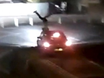 Shocking CCTV footage of hit and run shows man fly 15 feet through the air