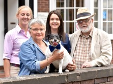 Terrier cheats death for the second time after being impaled on a gate post