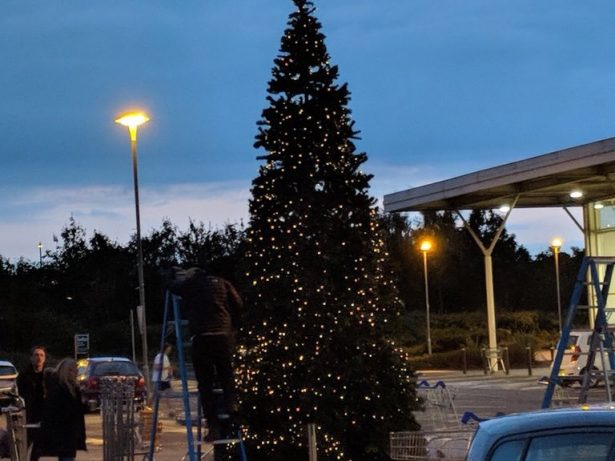Tesco Becomes The First Supermarket To Put A Christmas Tree Up - In AUGUST