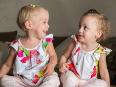 Miracle Twin Sisters Sparkle With Life After Being Born HOURS Away From The Abortion Deadline