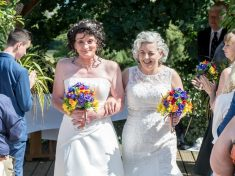 Couple Renewed Vows In Same Sex Ceremony 21 Years After Getting Married – As MAN And Wife