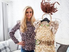 Bullied Schoolgirl Taunted For Being 'Stick Thin' Wins Beauty Contest In Wood Dress