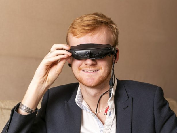 Blind Author Has Been Able To Travel Around The World And See Hundreds Of Amazing Sites Thanks To Pair Of Pioneering Glasses