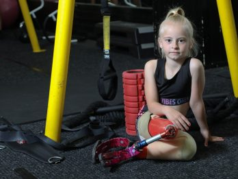 Amazing Footage Shows Little Girl Performing Astonishing Stunts On Gym Equipment - Despite Being A Double Amputee