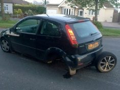 Young driver fuming after she went over small pothole at 25mph – that tore off her entire rear AXLE