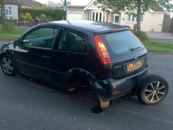Young driver fuming after she went over small pothole at 25mph - that tore off her entire rear AXLE