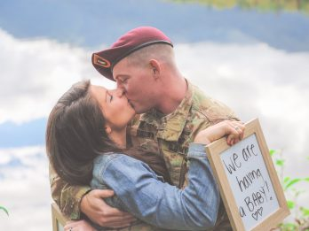 Woman Surprises Soldier Husband With Life-Changing News Before He's Deployed To Afghanistan