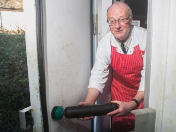 Butcher Locked In A Freezer Batters His Way Out With A Frozen Black Pudding