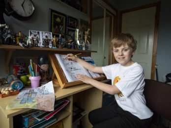 Ten-Year-Old Comic Book Fan Is Selling His Creations In Shops Around The World - Made From Scratch In His Bedroom