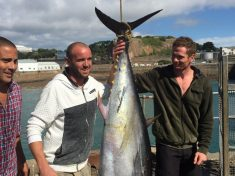 British Fisherman Shows Off Catch Of A 250lb Bluefin Tuna