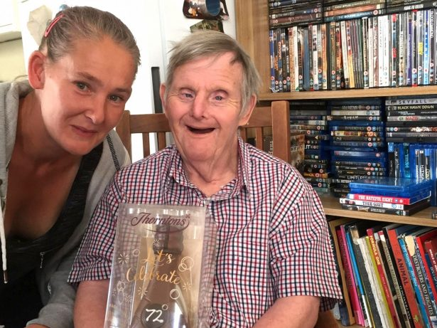Pensioner With Down's Syndrome Who Has Survived FIVE Times His Life Expectancy Celebrated 71st Birthday