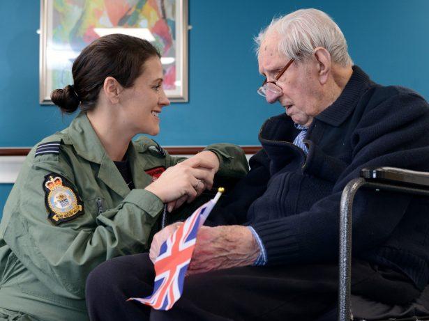 WWII Hero Has 103rd Birthday Wish Granted By Meeting Female RAF Pilot