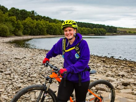 Young Blind Woman Believed To Be The First In The UK To Cycle A Massive Bike Trail Independently - Riding 30 Miles