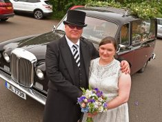 Bride And Doom: Funeral Director Mixed Work With Pleasure When She Travelled To Her Wedding In A HEARSE