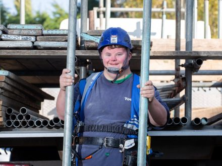 Down's Syndrome Lad Is Living His 'Dream' After Kind-Hearted Building Firm Took Him On - As An Apprentice Scaffolder