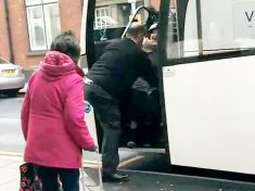 Bully Coach Driver Facing Sack After Being Filmed Dragging Passenger Off Coach By Her Legs