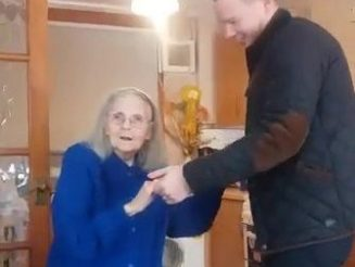 Footage Of Great-Grandmother Dancing The Day She Moved Into Care Home - Just Days Before She Died Because Of