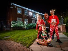 Festive Family Had Christmas Lights Up For A Month Already