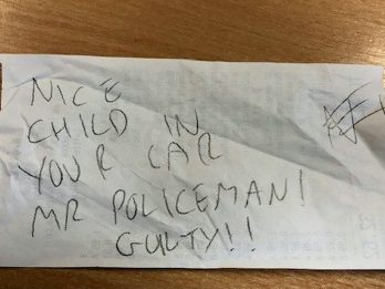 Police Given Snooty Note For Parking In Parent Bay While Hunting For Vulnerable Child