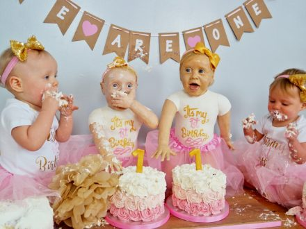 Talented Baker Creates Life-Sized Cake Versions Of Twin Daughters To Celebrate First Birthday