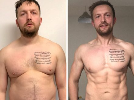 Incredible Transformation Of Father Who Overhauled His 'Dad Bod' - By Exercising With Newborn Baby