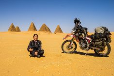 Gran Became First Briton To Travel Around The World On A Motorcycle – And Visit All Seven Continents