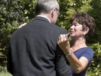 Emotional Moment Grandmother Meets Man Behind Experimental Drug That Saved Her Life