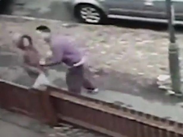 CCTV Captures Moment Thug Robs Defenseless 12-Year-Old Girl