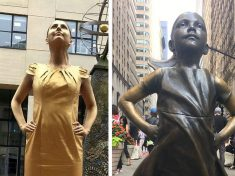 Woman Bags A Job By Turning Herself Into 'Fearless Girl' Statue