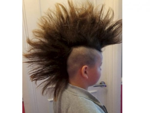 Schoolboy Braved Bullies To Grow A Mohawk - So He Could Shave It Off And Make Wigs For Children With Cancer