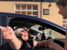 Hilarious Moment Frustrated Woman Drives Into Half Marathon And Is Stopped By Runners