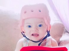 Little Girl With Brain Condition Can Finally Run Outside Thanks To Protective Helmet