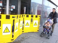 """Council Slammed For """"Dehumanising"""" Homeless Man By Placing Bright Yellow Warning Signs Around Him"""