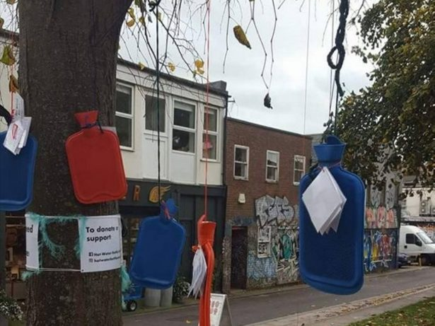 HOMELESS CHARI-TREE: You Can Expect To See Trees Sprouting Helpful Items This Winter