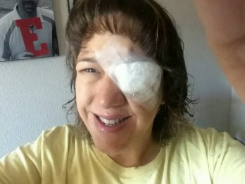 Mum Left Blinded After Parasite Latches To Her Eye While Swimming With Her Contact Lenses In