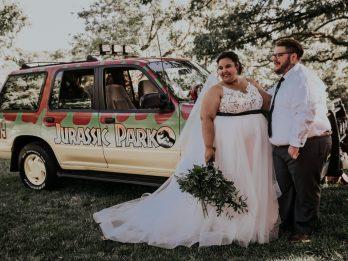 Dinosaur-Loving Couple Throw Epic Jurassic Park Themed Wedding