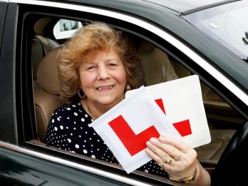 L-DERLY DRIVER: Great Gran Passes Driving Test Age 75 - Half-A-Century After Taking Her First Lesson