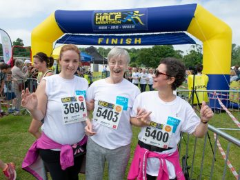 Kind-Hearted Care Home Staff Help Keen Former Runner Cross The Finishing Line - Two Years After She Suffered Crippling Stroke