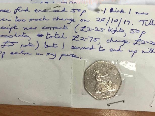Honest Shopper Posted 50p Back To Sainsbury's After Realising He'd Been Given Too Much Change