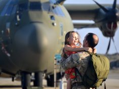 Touching Cuddle Between Six-Year-Old Girl And Her RAF Hero Dad Will Break Hearts In New Charity Calendar