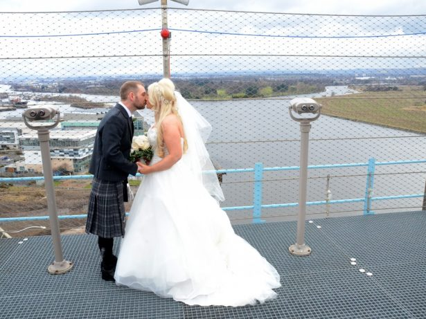 Daring Couple's Relationship Reaches New Heights After Becoming First Pair To Get Married At The Top Of 150ft Crane
