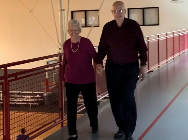Elderly Lovebirds Who Met At A Walking Track Celebrate Their 10th Wedding Anniversary - With The Same Walk They've Done Every Day Since